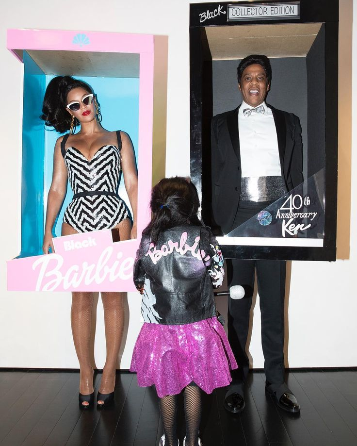 Beyoncé And Jay Z Dress As Black Barbie And Ken With Blue Ivy For Halloween