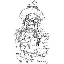 Stampavie Sarah Kay Clear Stamp Country Girl 3 1 2