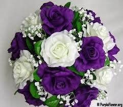 purple wedding flowers - Google Search