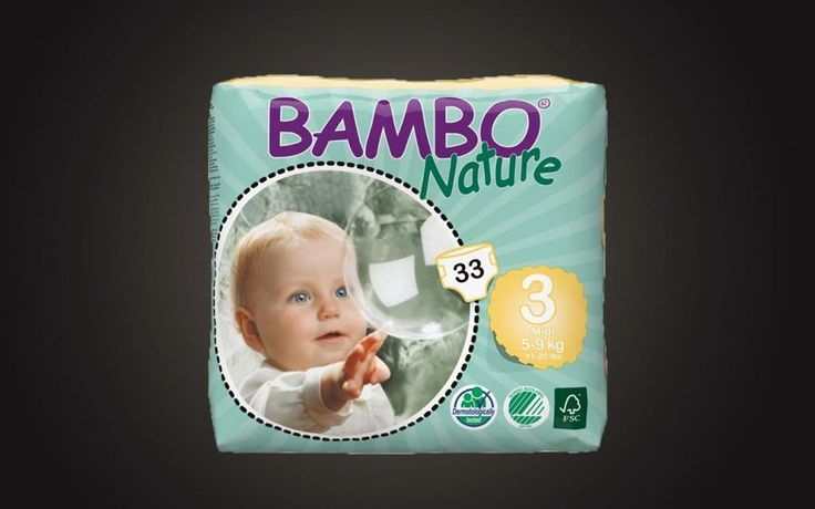 Pieluszki EKO 33szt. BAMBO Nature 3 MIDI 5-9kg