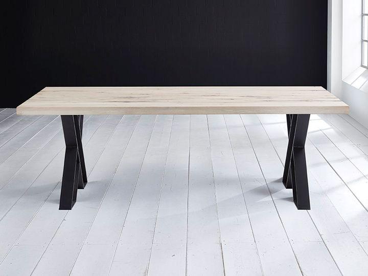 INNOVATION II Esszimmertisch Konferenztisch mit X-Fuß 8x16cmBalkeneiche & Eisen Massivholz - Qualität von  Bodahl Rusikaler Charme im modernen Gewand: Das Bodahl Innovation-Tischsystem bietet eine Vielfalt individuell...