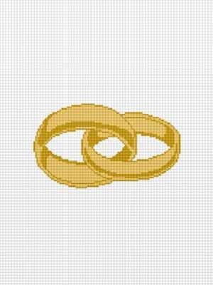 double wedding ring pattern to knit