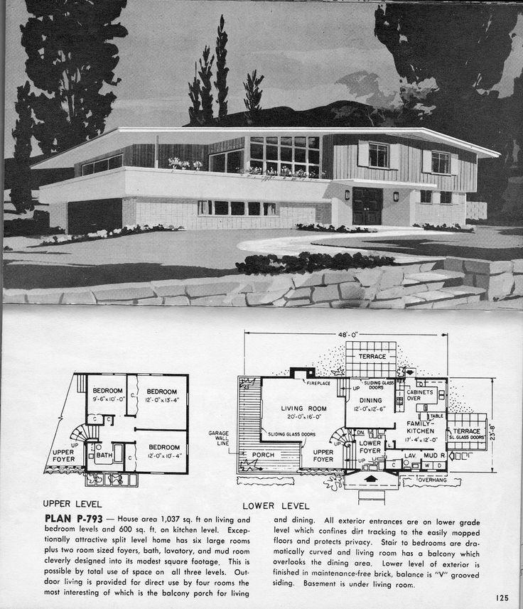 291 best mid century house plans images on pinterest vintage homes