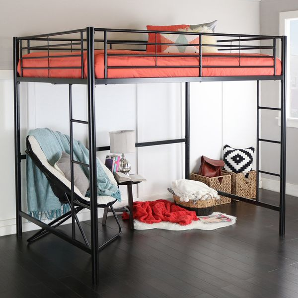 Full Metal Black Loft Bed. 17 Best images about Rooms on Pinterest