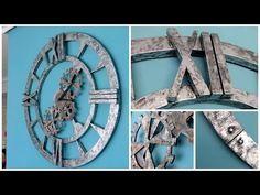 DIY HOME DECOR: reloj de pared estilo Industrial decor imitación acero envejecido - Isa ❤️ - YouTube