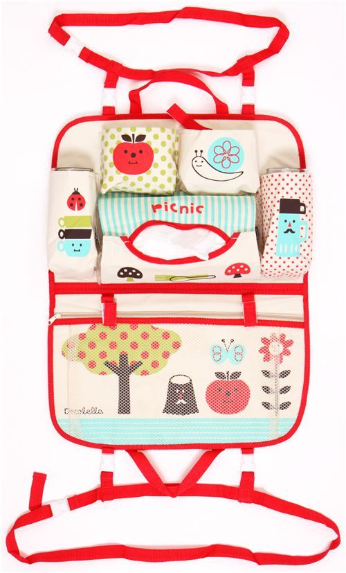 Organizador coche bolso lunar manzana caracol Decole Japón - Otras cositas lindas - Papelería - tienda kawaii modesS4u