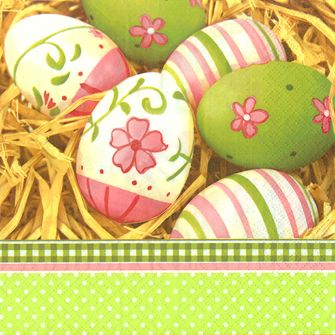 LUNCHEON PAINTED EGG NAPKINS - 20 PACK -
