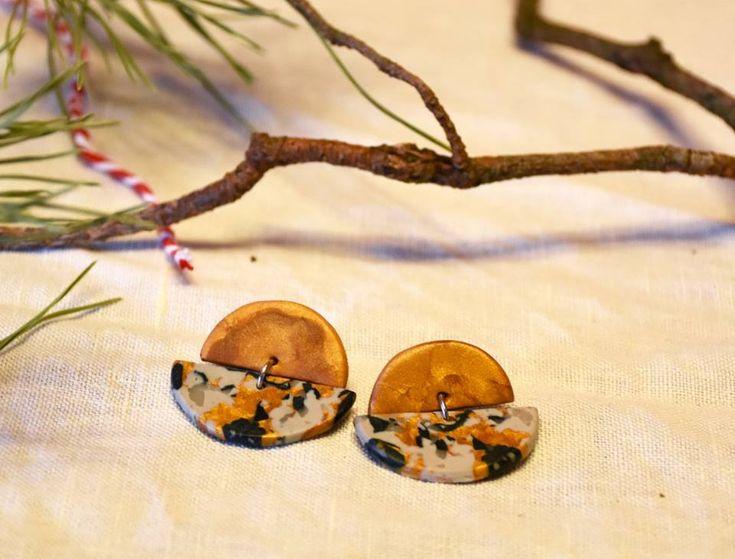 polymeric clay earrings   σκουλαρίκια από πολυμερικό πηλό