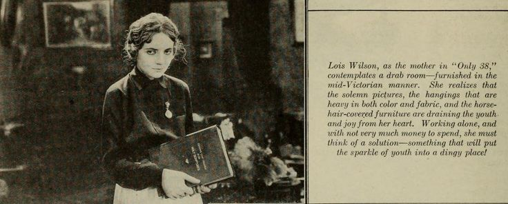 Lois Wilson in 'Only 38' (Photoplay December 1923)