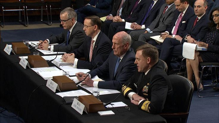 Intel Chiefs Coats, Rogers Are Asked if Trump Requested They Influence Comey