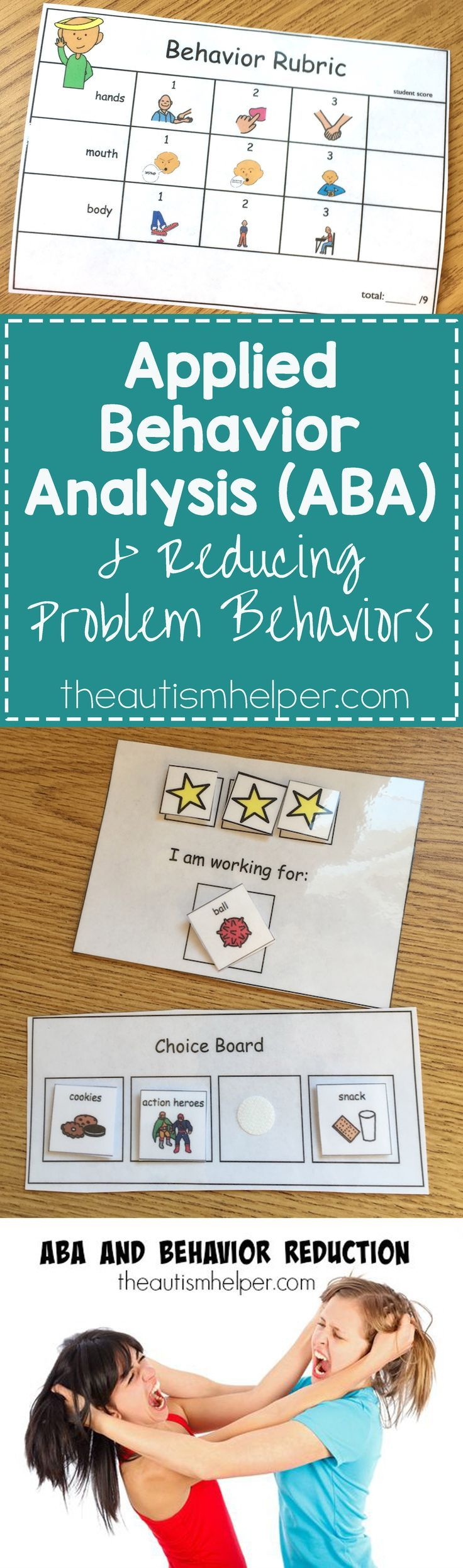 Applied Behavioral Analysis (ABA) strategies breakdown on the blog! From http://theautismhelper.com #theautismhelper