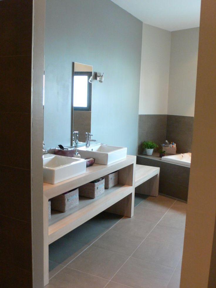 63 best Salle de bain images on Pinterest Bathroom, Modern - prix des gros oeuvres maison