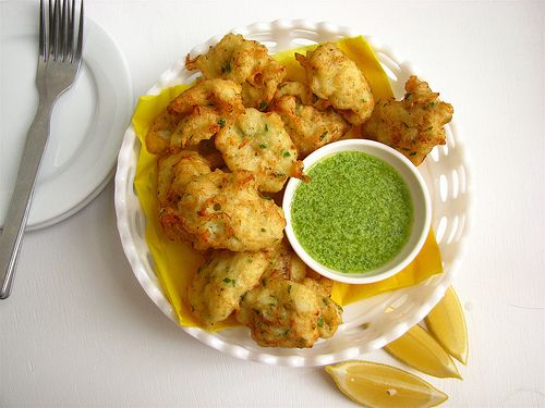 salt cod fritters 2 by high over happy, via Flickr