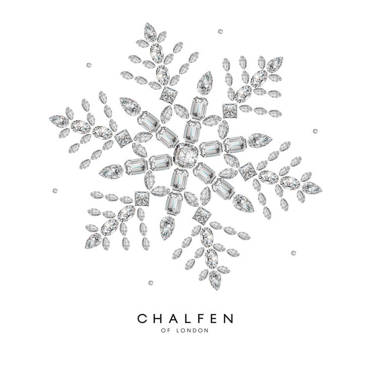 Client: Chalfen of London Task: Christmas Snowflake Made From Diamonds