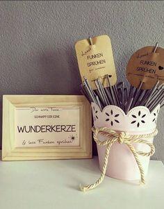 Hochzeit - WUNDERKERZEN Banderole Hochzeit Vintage Hochzeit - ein Designerstück von Druckliebe bei DaWanda