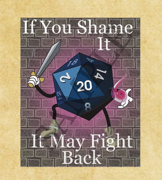 Dice Poster, Inspirational Poster, Instant Download, Pdf Printable Poster, Dungeons and Dragons, Rpg Poster, Gaming Poster, Wall Art