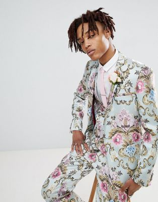 4924855a626 EDITION wedding skinny suit jacket in pastel floral jacquard in 2019 ...
