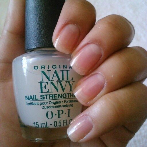 OPI Nail Envy Original Formula Maximum Strength-contains hydrolyzed wheat protein & calcium for harder stronger natural nails, ideal for weak nails, growth within 2-3 weeks, directions: apply 2 coats to clean dry nails- w/cuticles pushed back-followed by 1 coat every other day-after 1 week remove & begin application again; can be used as a topcoat in addition, 0.5 fl oz