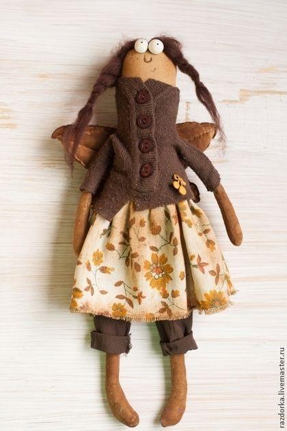 """Интерьерная кукла """"Коричка"""". Handmade."""