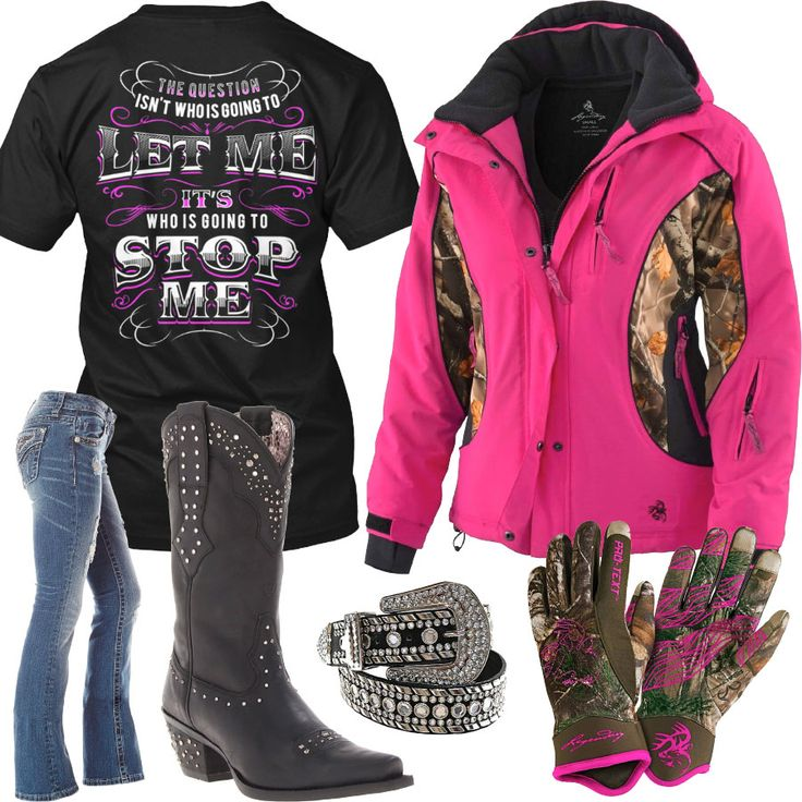 Who Is Going To Stop Me Pink Camo Jacket Outfit - Real Country Ladies