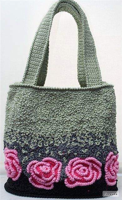 Love this crocheted bag! ....Photo inspiration