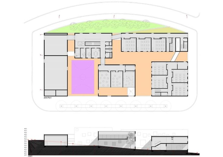 Antas Educative Center_Plan + Section