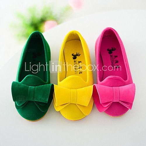 Bailarinas ( Piel sintética , Verde / Amarillo / Rosado Oscuro )- Bajo (3/4 de pulgada a 1 1/2 pulg) - Tacón plano para Zapatos de niña - USD $ 14.99