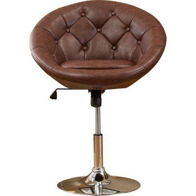Sarthak Contemporary Tufted Back Tilt Swivel Barrel Chair