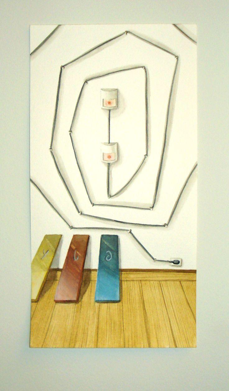 Detector de Movimiento (2014) Acuarela sobre papel (29x15 cm)