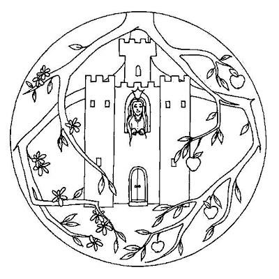 Mandala chateau #mandala #mandalas #coloriage