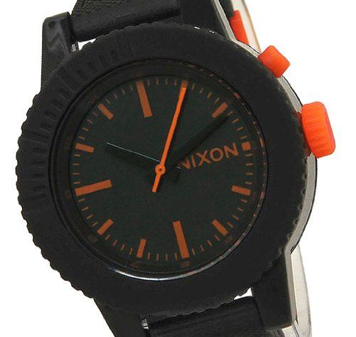 Nixon The GoGo Women's Watch - Black/Orange $69.95 http://amzn.com/B004JKS70C #WomenWatch
