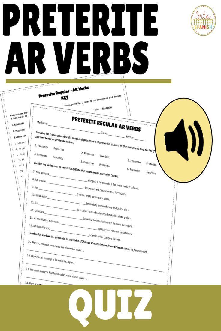 Verbs Year 8 Spanish Regular Verbs Verb Worksheets Spanish Verbs [ 803 x 1280 Pixel ]