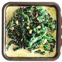 Recept - Spinazie met knoflook en room - Allerhande