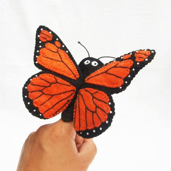 Butterfly monarch butterfly butterfly finger by KRFingerPuppets