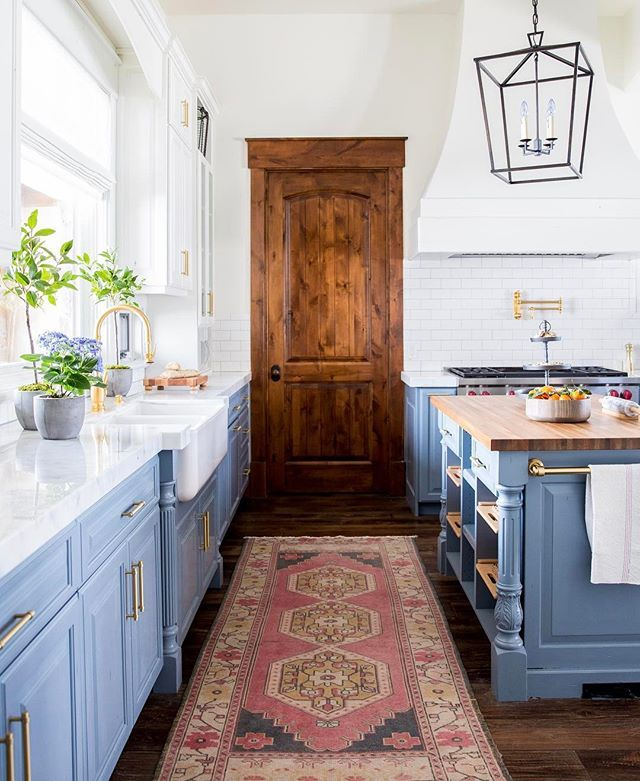 BECKI OWENS Before And After Heber House Project Kitchen In Collaboration With Jamie Bellessa Sharing Details Of This Blue Modern Farmhouse