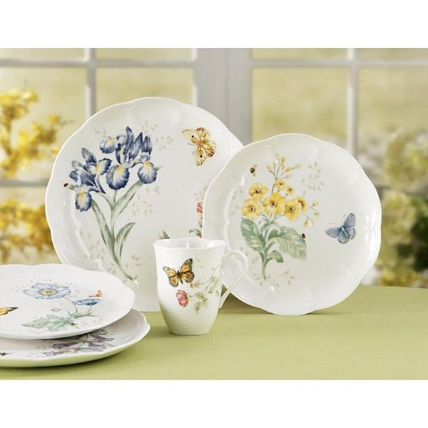 Lenox Butterfly Meadow Dinnerware Set 18 Piece White Blue Floral Kitchen Dishes #Lenox  sc 1 st  Pinterest & 17 best Dinnerware Sets images on Pinterest | Kitchen dining ...