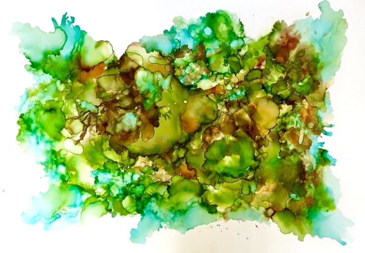 Alcohol inks on yuppo by Shannon Ducker