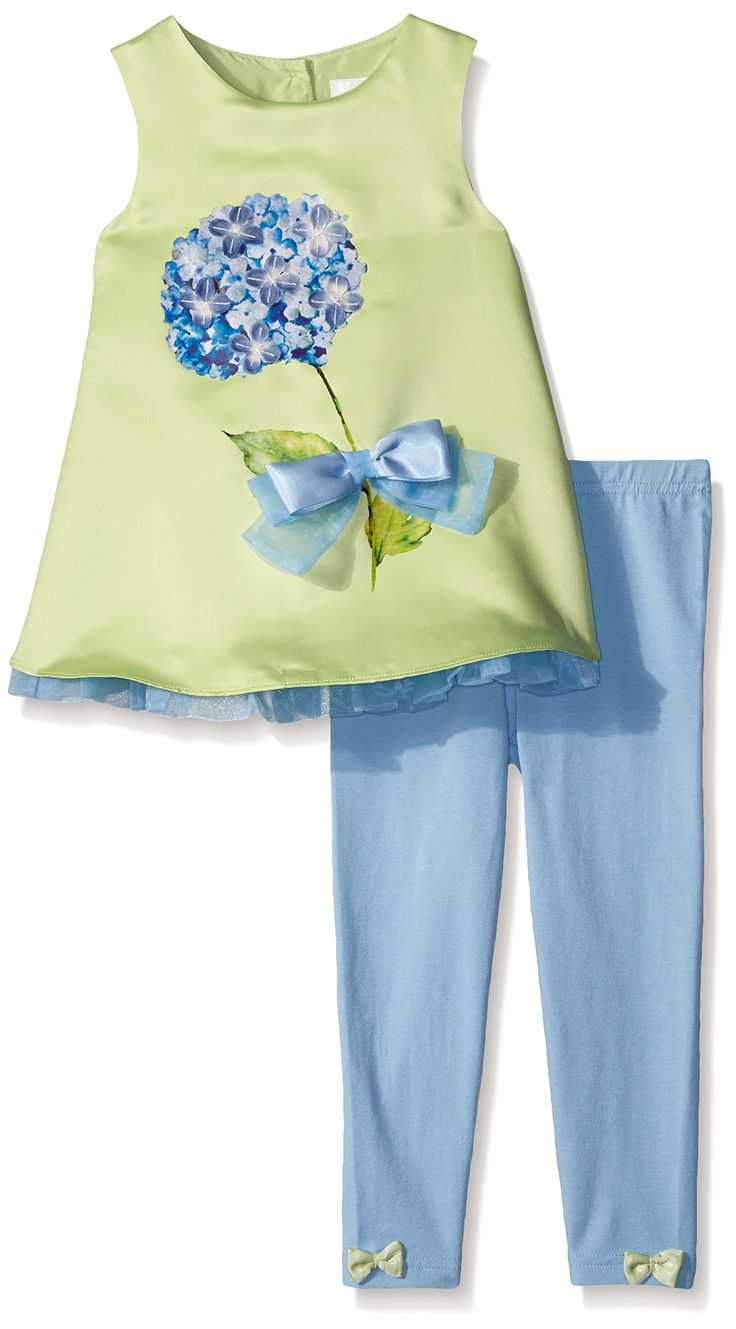 Lavender Slim Girls 2 Piece Set Sleeveless A-Line Top with Hydrangea and Bows with Leggings, Green, 4T. Lavender designs is a new fashion for young girls social occasion events including holidays, recitals, birthdays, graduation , special dinners, church or temple, weddings and parties. Lavender design is a new fashion for young girls social occasion events including holidays, recitals, birthdays, graduation , special dinners, church or temple, weddings and parties.