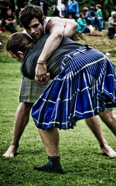 Highland Games to see men wrestle in kilts have yet to see this at a games, maybe in KC