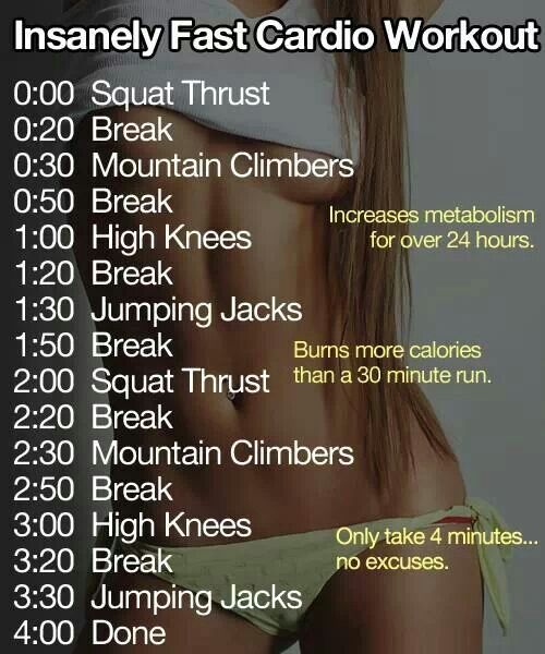 Fast Cardio Workout