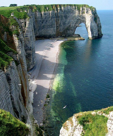 amazing places around the world: Beaches, Buckets Lists, Favorite Places, Cliff, Beautiful Places, Normandy France, Visit, Amazing Places, Vacations