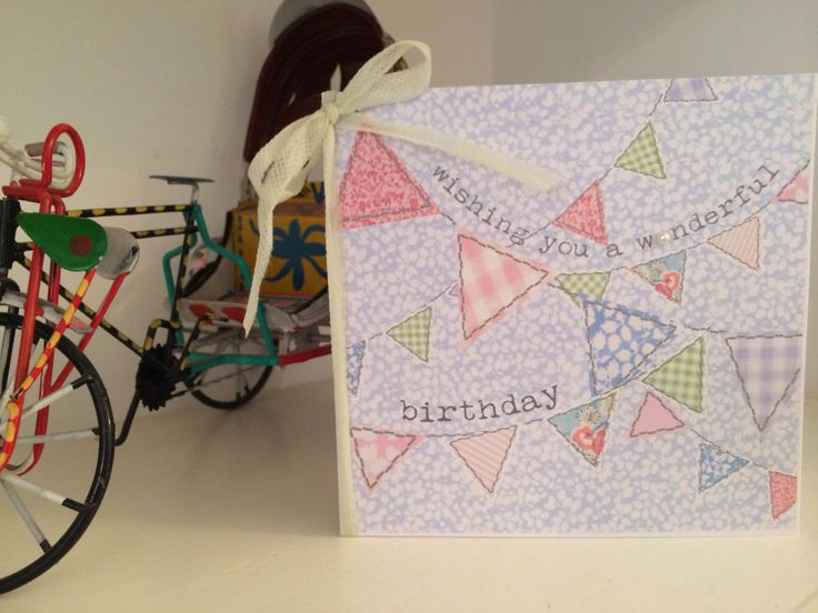 Bunting birthday card from etsy shop Thingsilove.me