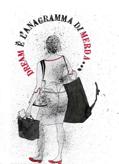 """realizza / realize   tullio corda's illustration  from the series """"esercizi di tanatosi"""""""