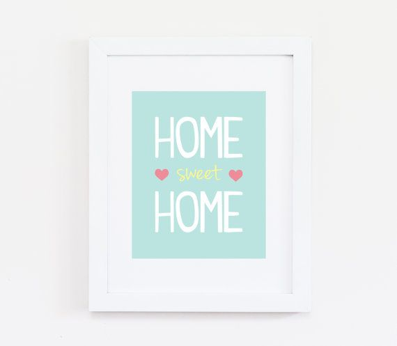 Home Sweet Home Art Quote Print Printable Art by BellaPaperieShop