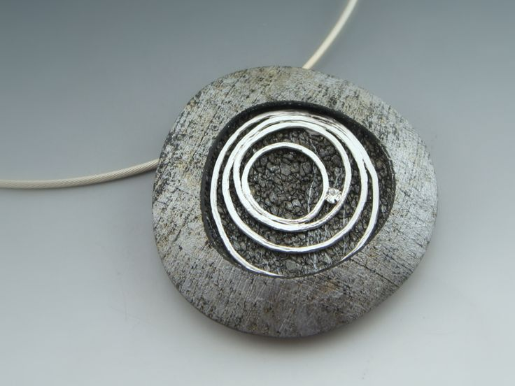 Circles. Polymer clay, sterling silver, rhinestone. By Stonehouse Studio