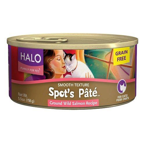 Halo Spots Choice Wild Salmon Cat (12x5.5Oz) Canned cat