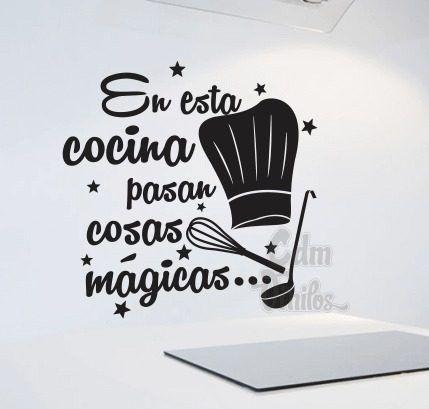 Vinilos Decorativos Cocina Mágica Condimentos Frases Pared - $ 259,00
