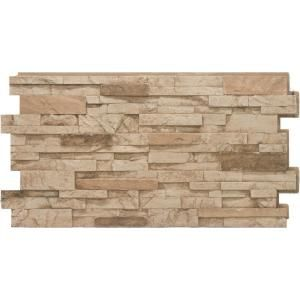 Urestone Stacked Stone #35 Desert Tan 24 in. x 48 in. Stone Veneer Panel (4-Pack) DP2625-35 at The Home Depot - Mobile