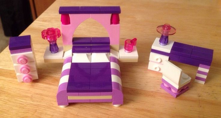 New Lego Custom Girls Bedroom Set Friends Girls Town City Modular Simpsons | eBay