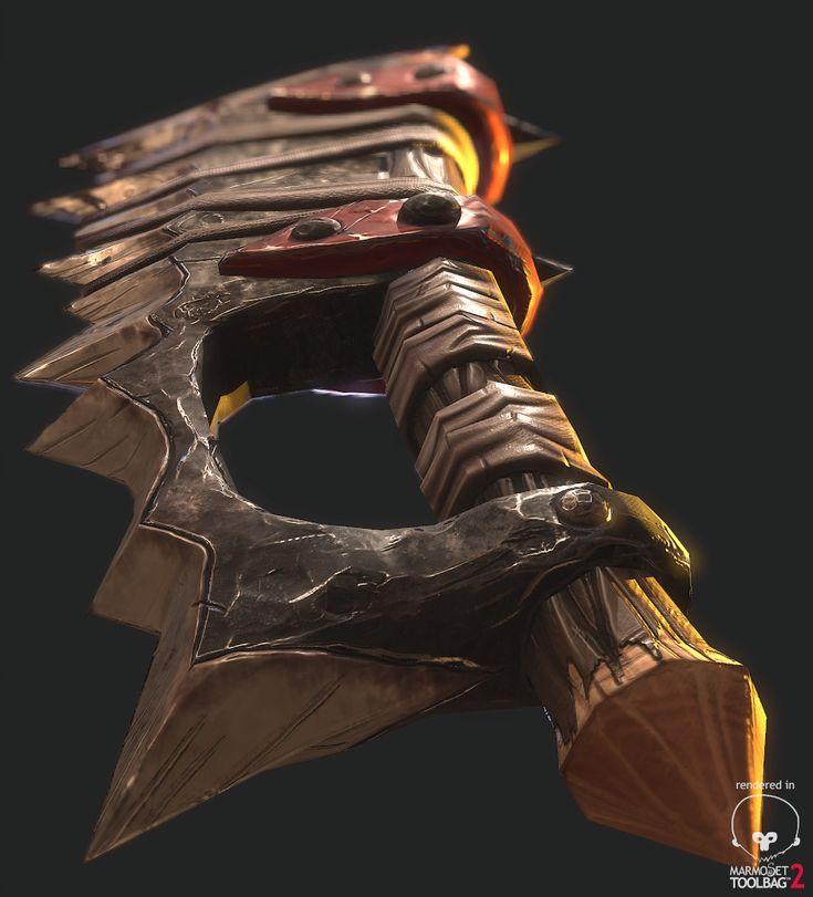 ArtStation - Stylized PBR Orc Sword, Amaury Darras